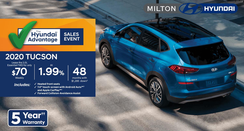 2020 Hyundai Tuscon at Milton Hyundai