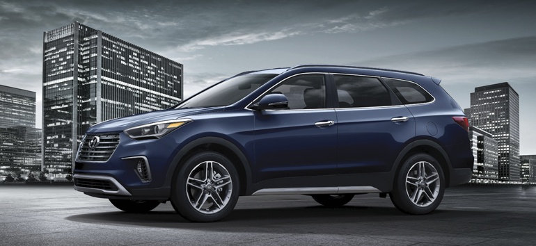 2017 Hyundai Santa Fe XL Storm Blue @ Milton Hyundai