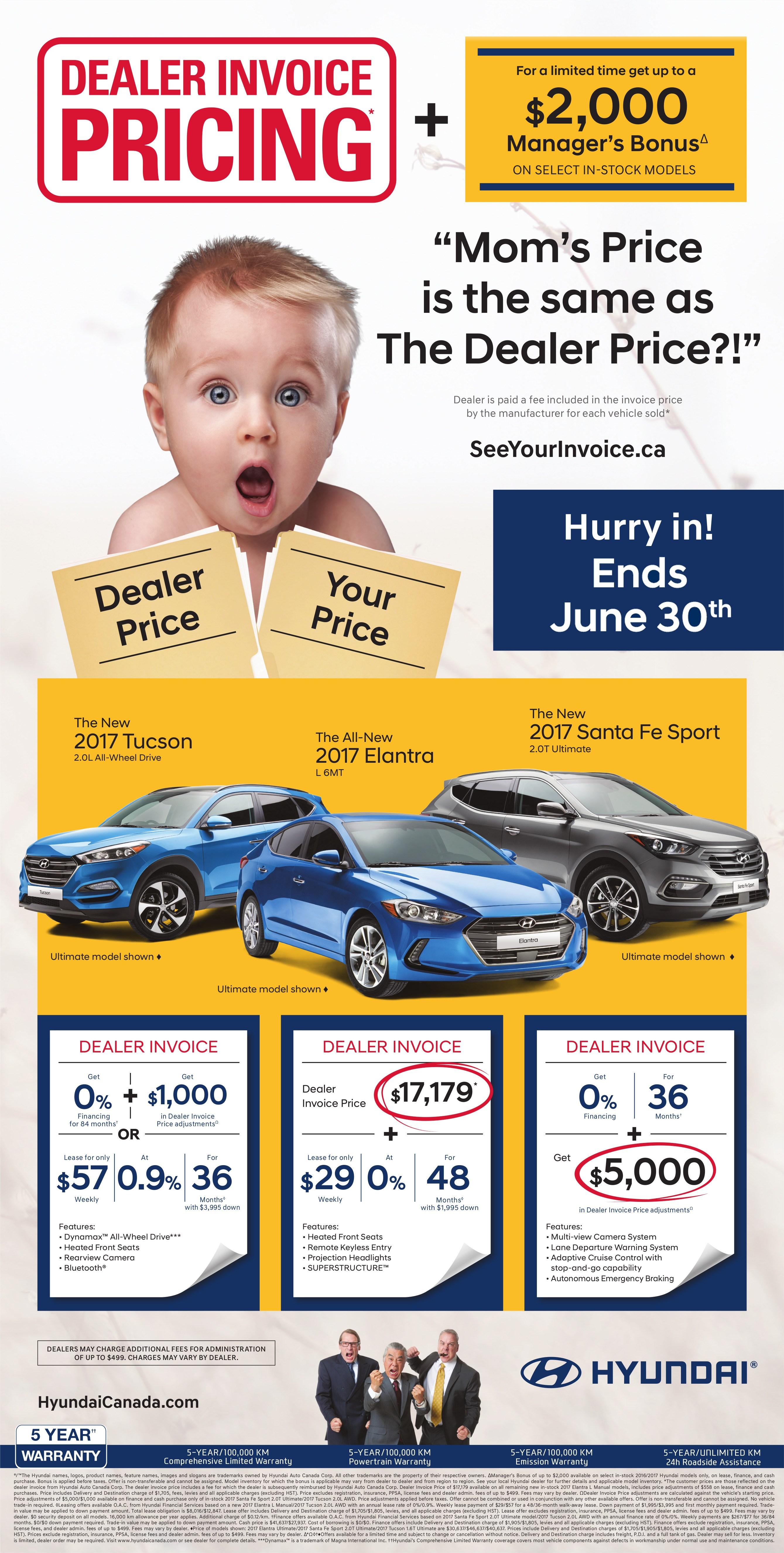 Dealer Invoice Pricing Milton Hyundai - Dealer invoice price