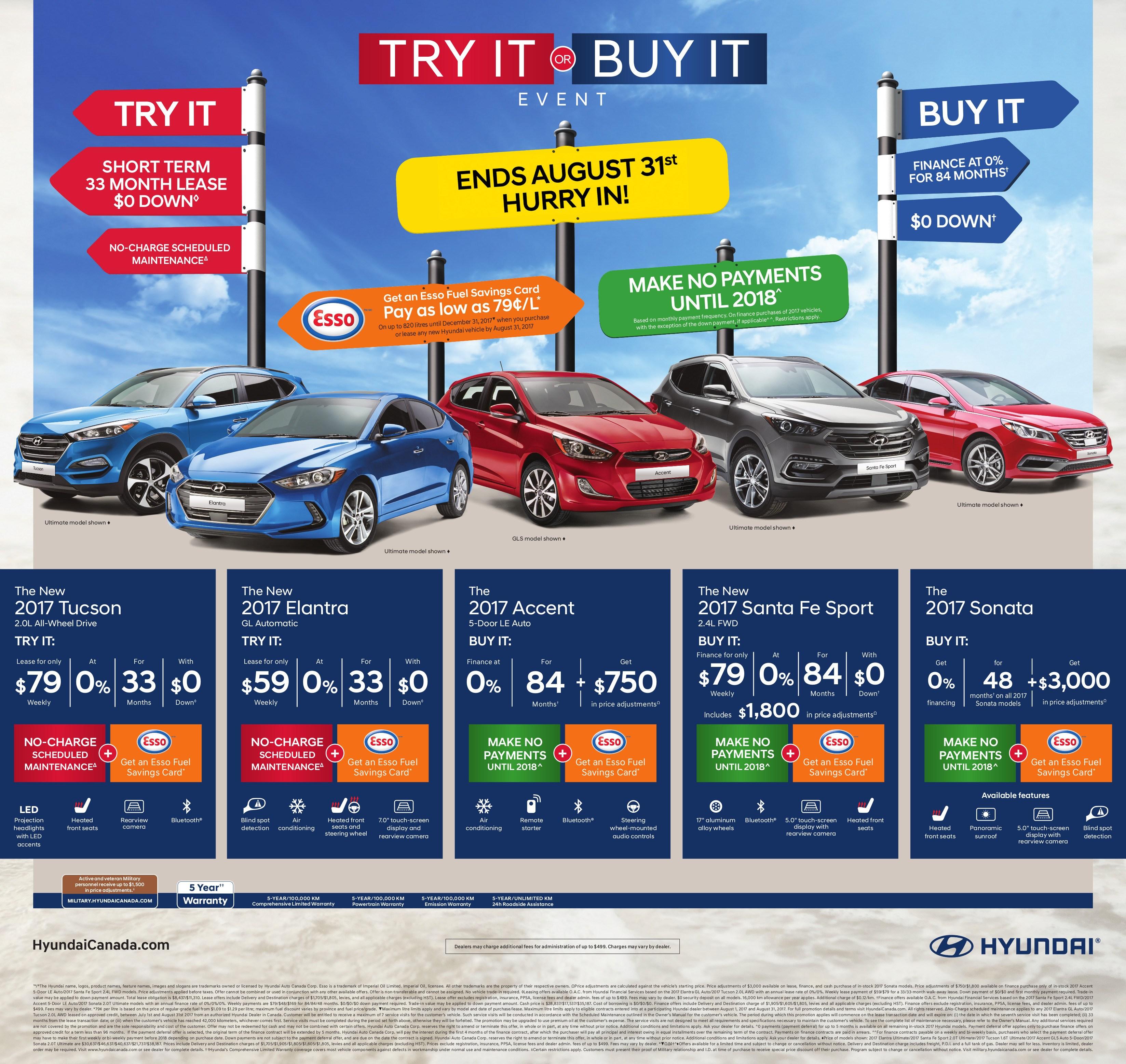 The Try It Or Buy It Event Milton Hyundai - Hyundai tucson invoice