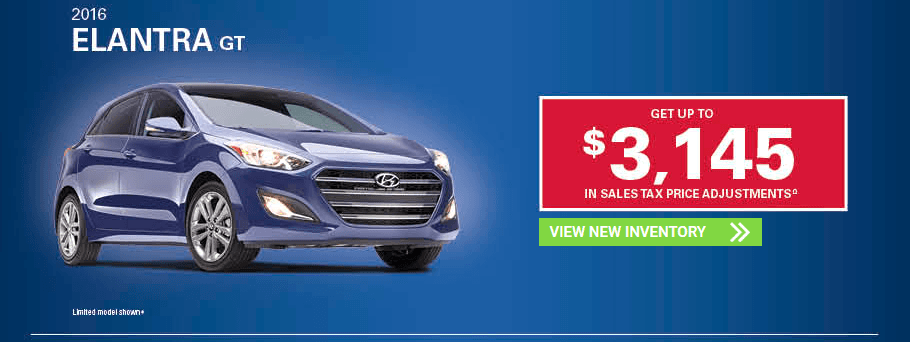 November 2016 Hyundai Elantra GT Incentives in Milton, Ontario and Toronto and the GTA.