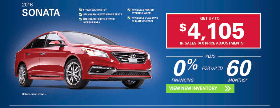 November 2016 Hyundai Sonata Incentives in Milton, Ontario and Toronto and the GTA.