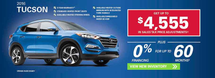 November 2016 Hyundai Tucson SUV Hyundai Incentives in Milton, Ontario and Toronto and the GTA.