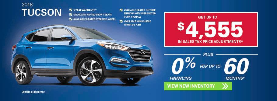 November 2016 Hyundai Tucson SUV Hyundai Incentives in Milton, Ontario and Toronto and the GTA.