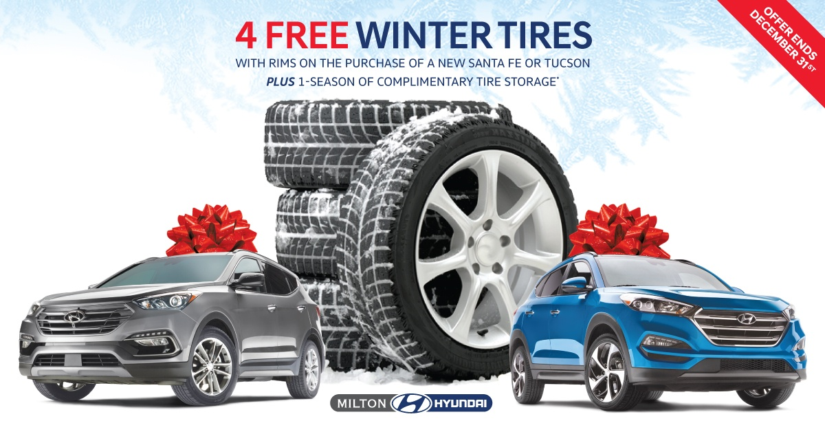 Santa Fe and Tucson – 4 Free Winter Tire Offer