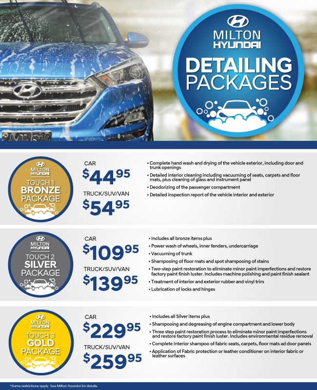 Detailing Specials at Milton Hyundai