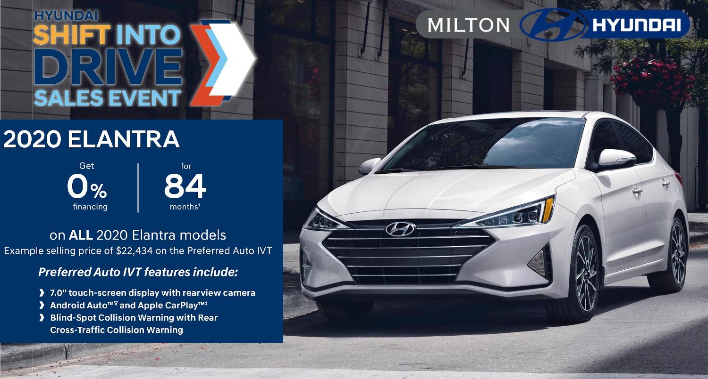 2020 Hyundai Elantra at Milton Hyundai